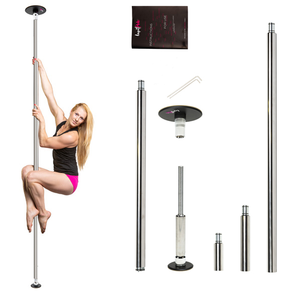 LUPIT POLE -  CLASSIC G2 stainless steel 42mm or 45mm portable dance pole